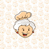 Grandma chef cartoon Royalty Free Stock Photos