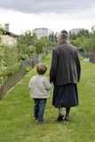 Grandma with child Stock Image