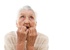 Grandma daydreaming Stock Image