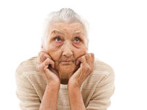 Grandma daydreaming Royalty Free Stock Image