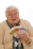 Grandma with Euros Stock Photos