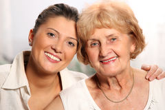 Grandma and grandaughter Stock Photo