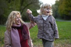 Grandma and grandchild Royalty Free Stock Images