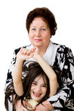 Grandma grandchild smile Stock Images