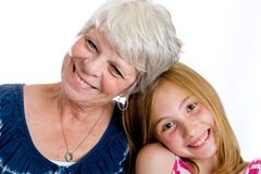 Grandma and Granddaughter Royalty Free Stock Photography