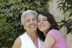 Grandma with granddaughter Royalty Free Stock Photos