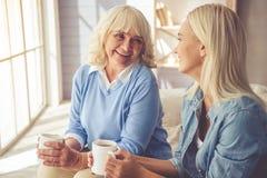 Grandma and granddaughter Royalty Free Stock Photography