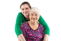 Grandma and granddaughter Royalty Free Stock Images