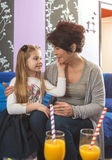 Grandma and granddaughter loves spending time together stock images