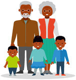 Grandma and grandpa with grandkids Royalty Free Stock Photo