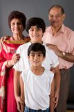 Grandma, Grandpa and Us Royalty Free Stock Images