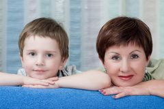 Grandma with grandson Royalty Free Stock Images