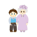 Grandma and Grandson Royalty Free Stock Image
