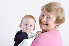 Grandma with grandson Royalty Free Stock Photos