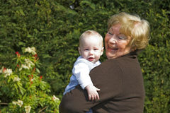 Grandma and grandson Royalty Free Stock Photography