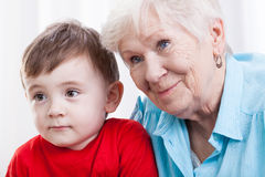 Grandma with grandson Royalty Free Stock Image