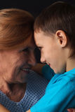 Grandma with her beloved grandson Stock Photo