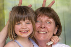 Grandma with her granddaughter. Laughing Stock Photos