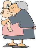 Grandma Holding A Baby Royalty Free Stock Images