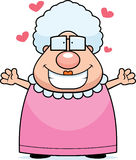 Grandma Hug. A cartoon grandma ready for a hug vector illustration