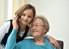 Grandma and I Stock Photos