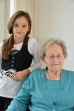 Grandma and I Stock Image