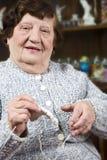 Grandma knitting Royalty Free Stock Photos