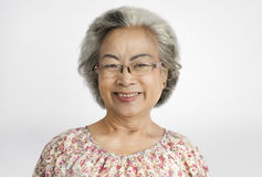 Grandma Lady Positive Motivation Smile Concept Royalty Free Stock Photography