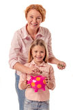 Grandma and little girl Royalty Free Stock Images