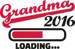 Grandma 2016 Loading bar. Vector Royalty Free Stock Image