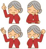 Grandma look. This is an illustration of the expression of Grandma Stock Photography