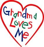 Grandma Loves Me Stock Photos