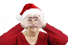 Grandma making heart symbol Stock Image