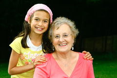 Grandma and me royalty free stock photos