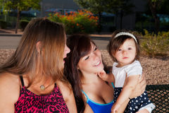 Grandma, Mom and Baby Royalty Free Stock Photos