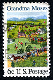 Grandma Moses US Postage Stamp Royalty Free Stock Photography