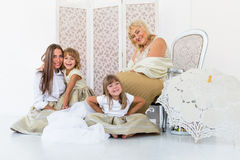 Grandma, mother and daughters Royalty Free Stock Images