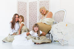 Grandma, mother and daughters Stock Photos