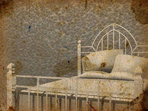 Grandma´s bed stock illustration