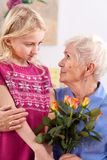 Grandma's day Stock Images