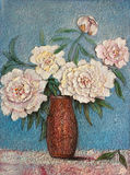 Grandma's favourite. Grandmas favorite flowers original oil painting impressionism on canvas Royalty Free Stock Image