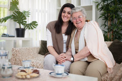 Grandma`s always have a special place in our hearts Stock Image