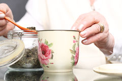 Grandma's herbs for colds. Royalty Free Stock Image