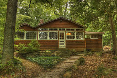Grandma's House. Cottage in the woods near Orillia Ontario Canada royalty free stock photography