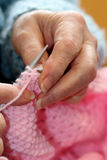 Grandma's Knitting Royalty Free Stock Images