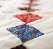 Grandma's Patchwork Quilt Stock Images