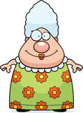 Grandma Smiling. A cartoon grandma standing and smiling Royalty Free Stock Photo