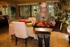 Grandma Turkey Dinner Royalty Free Stock Photography