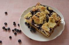 Grandma's homemade yeast cake Royalty Free Stock Images