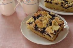 Grandma's homemade yeast cake Royalty Free Stock Photo